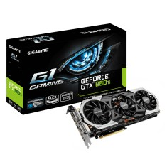Placa de Video NVIDIA GeForce GTX 980 Ti 6 GB GDDR5 384 Bits Gigabyte GV-N98TG1 GAMING-6GD