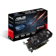 Placa de Video ATI Radeon R7 260X 2 GB GDDR5 128 Bits Asus R7260X-OC-2GD5