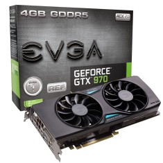 Placa de Video NVIDIA GeForce GTX 970 4 GB GDDR5 256 Bits EVGA 04G-P4-3973-KR