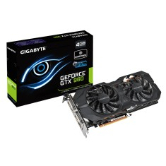 Placa de Video NVIDIA GeForce GTX 960 4 GB GDDR5 128 Bits Gigabyte GV-N960WF2OC-4GD