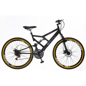 Bicicleta Mountain Bike Colli Bikes Renault 21 Marchas Aro 26 Suspensão Full Suspension Freio a Disco 549