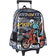 Mochila com Rodinhas Escolar Luxcel Team Racing 6 IC31292MT