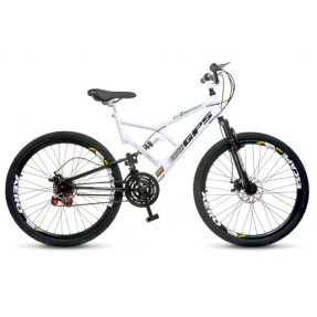 Bicicleta Mountain Bike Colli Bikes 21 Marchas Aro 26 Suspensão Full Suspension Freio a Disco Full-S GPS 220