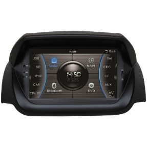 Central Multimídia Automotiva Caska CA286BR USB Viva Voz TV Digital