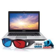 "Notebook Positivo Stilo Intel Celeron N2806 4GB de RAM HD 500 GB 14"" Linux XRi3210"