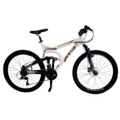 Bicicleta Mountain Bike GTSM1 21 Marchas Aro 26 Suspensão Full Suspension Freio a Disco Spring