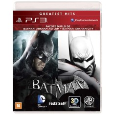 Jogo Combo Batman Arkham Asylum & City PlayStation 3 Warner Bros