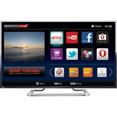 "Smart TV TV LED 55"" Semp Toshiba 4K Netflix 55L7400 3 HDMI"