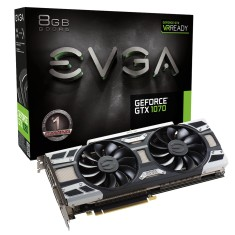 Placa de Video NVIDIA GeForce GTX 1070 8 GB GDDR5 256 Bits EVGA 08G-P4-6171-KR