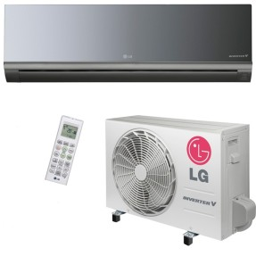Ar Condicionado Split Hi Wall LG Libero Art Cool 9000 BTUs Inverter Controle Remoto Frio AS-Q092BRZ0