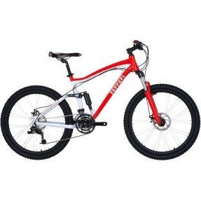 Bicicleta Mountain Bike Komda 24 Marchas Aro 26 Suspensão Full Suspension Freio a Disco Ferrari