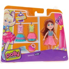 Boneca Polly Super Fashion Lila 79/CGJ02 Mattel