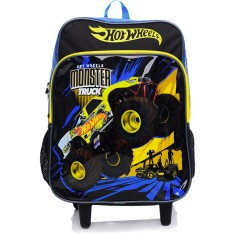 Mochila com Rodinhas Escolar Sestini Hot Wheels 15M Plus G
