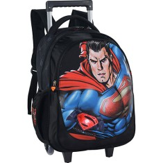 Mochila com Rodinhas Escolar Luxcel Superman Vs Batman IC31457SB
