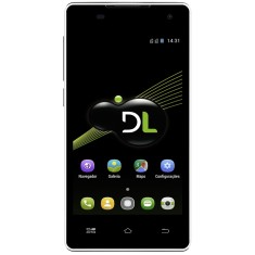 Smartphone DL Eletrônicos 8GB YZU DS4 5,0 MP 2 Chips Android 5.0 (Lollipop) 3G 4G Wi-Fi