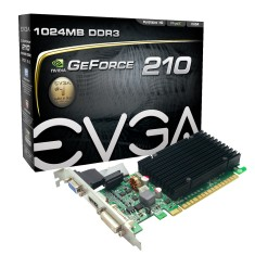 Placa de Video NVIDIA GeForce 210 1 GB DDR3 64 Bits EVGA 01G-P3-1313-KR