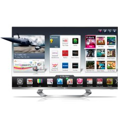 "Smart TV LED 3D 55"" LG Cinema Full HD 55LM8600"