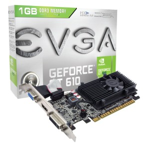 Placa de Video NVIDIA GeForce GT 610 1 GB DDR3 64 Bits EVGA 01G-P3-2615-KR