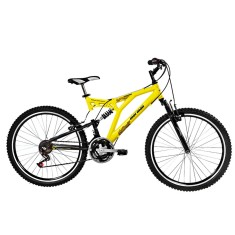 Bicicleta Mountain Bike Mormaii 24 Marchas Aro 26 Suspensão Full Suspension Freio V-Brake Padang