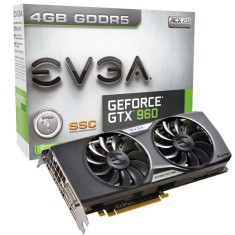 Placa de Video NVIDIA GeForce GTX 960 4 GB GDDR5 128 Bits EVGA 04G-P4-3967-KR