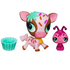 Boneca Littlest Pet Shop Vaca e Catari Hasbro