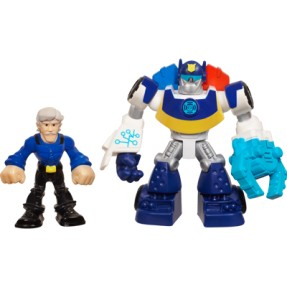 Boneco Chase The Police-Bot Chief Charlie Burns Transformers Rescue Playskool Heroes A2107 - Hasbro