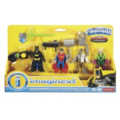 Boneco Imaginext DC Super Friends Batman Super Homem DPB23 - Fisher Price