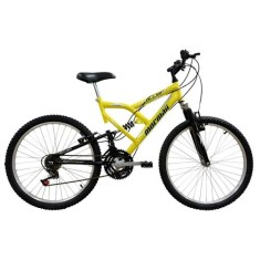 Bicicleta Mormaii 18 Marchas Aro 24 Suspensão Full Suspension FA240