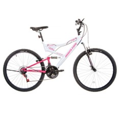 Bicicleta Houston 21 Marchas Aro 26 Suspensão Full Suspension Freio V-Brake Vivid