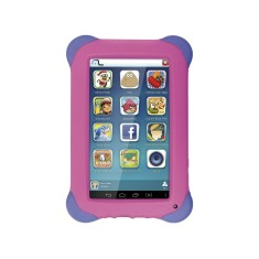 "Tablet Multilaser 8GB LCD 7"" Android 4.4 (Kit Kat) 2 MP Kid Pad NB194"