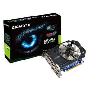 Placa de Video NVIDIA GeForce GTX 750 1 GB GDDR5 128 Bits Gigabyte GV-N750OC-1GI