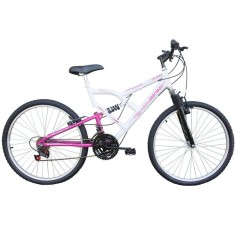 Bicicleta Mountain Bike Mormaii 18 Marchas Aro 26 Suspensão Full Suspension Freio V-Brake FA 240
