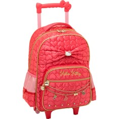 Mochila com Rodinhas Escolar PCF Global Hello Kitty Sparkling 924Q01C