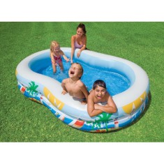 Piscina Inflável 572 l Oval Intex Lagoa 56490