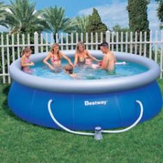 Piscina infl vel l redonda bestway fast set 57165 for Ofertas piscinas bestway