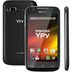 Smartphone Positivo Ypy S460 TV TV Digital 4GB 5,0 MP 2 Chips Android 4.2 (Jelly Bean Plus) Wi-Fi 3G