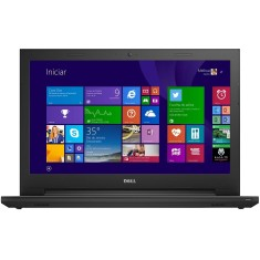 "Notebook Dell Inspiron 3000 Intel Core i3 4005U 4ª Geração 4GB de RAM HD 1 TB 15,6"" Windows 8.1"
