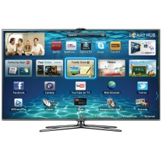 "Smart TV TV LED 3D 46"" Samsung Série 7 Full HD UN46ES7000 3 HDMI"