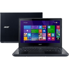 "Notebook Acer Aspire E Intel Core i3 5005U 5ª Geração 4GB de RAM HD 500 GB 14"" Windows 8.1 E5-471-34W1"