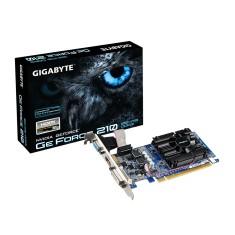 Placa de Video NVIDIA GeForce 210 1 GB DDR3 64 Bits Gigabyte GV-N210D3-1GI (Rev. 6.0)