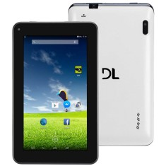 "Tablet DL Eletrônicos e-Color Plus 4GB 7"" Android 2 MP 4.4 (Kit Kat)"