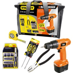 Kit Furadeira / Parafusadeira 3/8 Black&Decker - CD961
